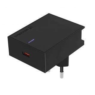 USB-C Netzteil, 18W Schnellladegerät, Swissten Slim Series - Schwarz