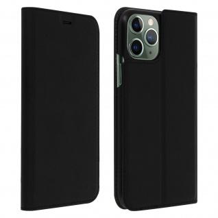Muvit Flip Wallet Cover, Handyhülle für Apple iPhone 11 Pro - Schwarz