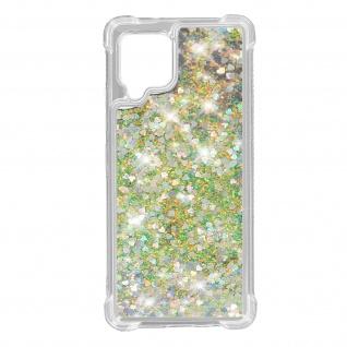 Samsung Galaxy A42 5G Flexible Bumper Handyhülle, Glitter Schutzhülle - Silber