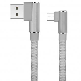 USB Typ-C /USB 3A abgewinkeltes Kabel Aufladen & Synchronisation 1.2m LinQ Grau