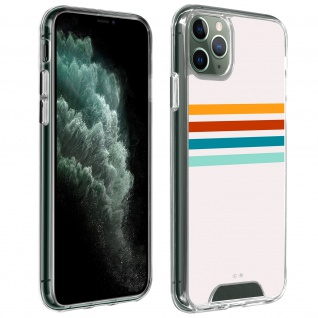 Handyhülle für iPhone 11 Pro Max, Made in France ? Stripes Design