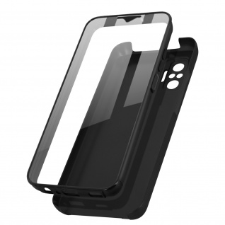 Schutzhülle für Xiaomi Redmi Note 10 Pro, Vorder- + Rückseite ? Schwarz
