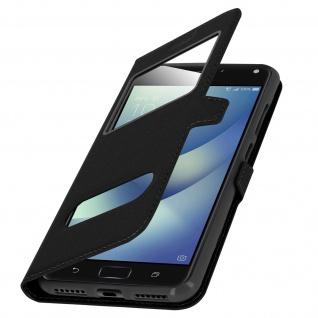 Ultradünnes Flip-Cover Doppelfenster für Asus Zenfone 4 Max ZC520KL - Schwarz