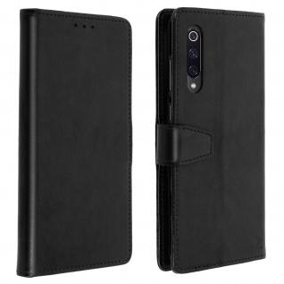 Flip Stand Cover Brieftasche & Standfunktion für Xiaomi Mi 9 - Schwarz