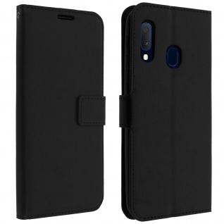 Flip Cover Stand Case Brieftasche & Standfunktion Samsung Galaxy A20e - Schwarz