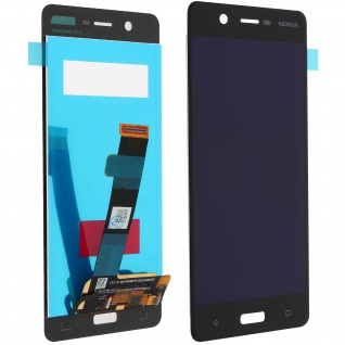 Nokia 5 LCD-Komplettset + Touchscreen - Ersatzdisplay Schwarz