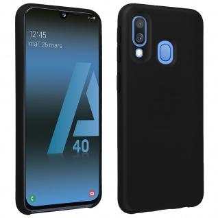 Halbsteife Silikon Handyhülle Samsung Galaxy A40, Soft Touch - Schwarz