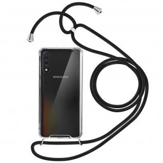 Handykette Handyhülle mit Halsband für Samsung Galaxy A50 - Schwarz