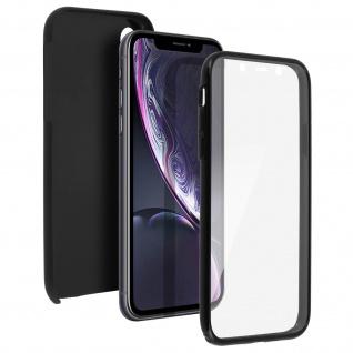 Schutzhülle für Apple iPhone XR, Vorder- + Rückseite ? Schwarz