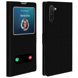 Samsung Galaxy Note 10 Flip Cover Doppelfenster & Standfunktion � Schwarz