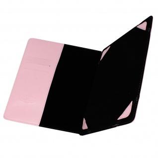 Universal 10 Zoll Tablet Hülle mit Fächern & Standfunktion, Blun - Rosa