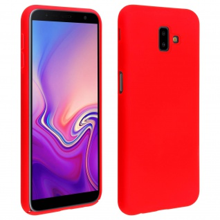 Samsung Galaxy J6 Plus stoßfeste Soft Touch Schutzhülle ? Rot