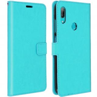 Flip Stand Cover Brieftasche & Standfunktion für Huawei Y7 2019 - Türkisblau
