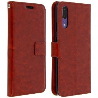 Flip Cover Stand Case Brieftasche & Standfunktion für Huawei P20 - Braun