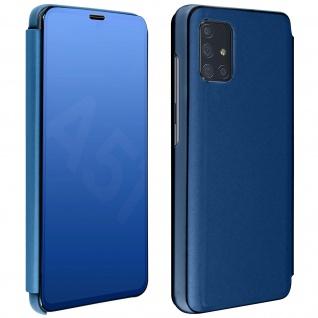 Mirror Klapphülle, Spiegelhülle für Samsung Galaxy A51 - Blau