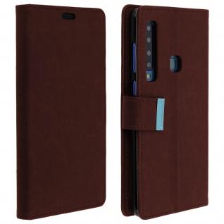 Samsung Galaxy A9 2018 Flip-Cover mit Kartenfächern & Standfunktion - Braun