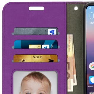 Flip Cover Stand Case Brieftasche & Standfunktion für Huawei P20 - Violett - Vorschau 3