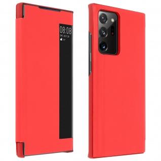 Window View Klapphülle, Etui mit Sichtfenster für Galaxy Note 20 Ultra ? Rot
