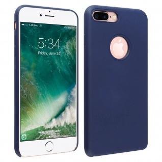 Halbsteife Silikon Handyhülle iPhone 7 +/8 +, Soft Touch - Dunkelblau