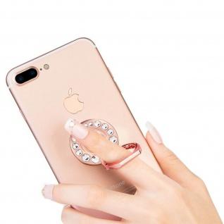 Ring Halterung für Smartphones, Crystal Strass 360° Ständer - Rosegold