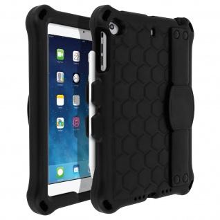 Schwarze Apple iPad Mini 1/2/3 Hybrid-Hülle mit drehbarem Griff und Ständer