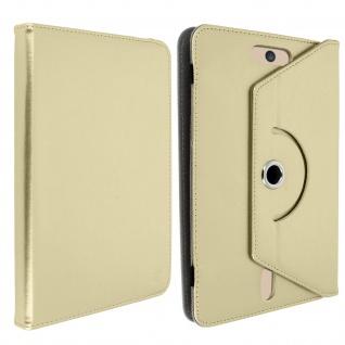 Universal Kunstlederetui 10.1 Zoll Tablets, 360° drehbare Klapphülle ? Gold