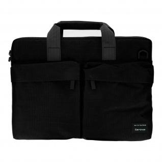 Notebooktasche, Umhängetasche 15.4'' Laptops/Tablets mit Vordertaschen - Schwarz