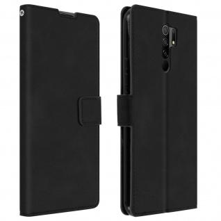 Flip Stand Case Brieftasche & Standfunktion für Xiaomi Redmi 9 ? Schwarz