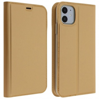 Flip Cover, Klappetui mit Kartenfach & Standfunktion Apple iPhone 11 - Gold