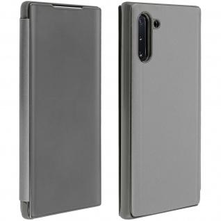 Samsung Galaxy Note 10 Flip Cover mit Spiegeleffekt & Standfunktion - Silber