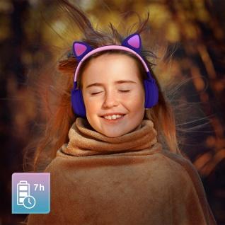 Katzenohren kabellose Bluetooth Kopfhörer, Kitty Headset ? Violett - Vorschau 4