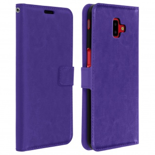 Flip Cover Stand Case Brieftasche & Standfunktion für Galaxy J6 Plus - Violett