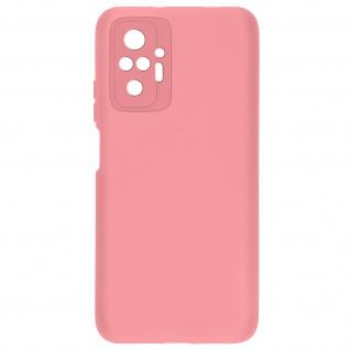 Halbsteife Silikon Handyhülle für Xiaomi Redmi Note 10 Pro, Soft Touch ? Rosa