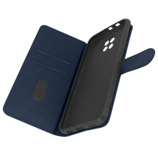 Flip Cover Geldbörse, Etui Kunstleder für Xiaomi Redmi Note 9T 5G â€? Dunkelblau