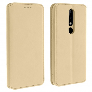 Kunstleder Cover Classic Edition Nokia 5.1 Plus - Gold