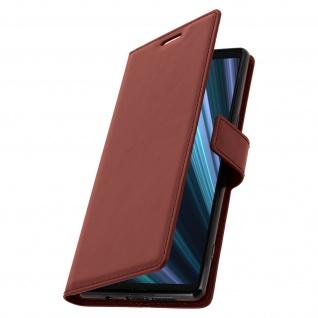 Flip Stand Cover Brieftasche & Standfunktion für Sony Xperia 1 - Braun - Vorschau 2