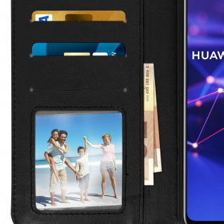 Flip Stand Cover Brieftasche & Standfunktion Huawei Mate 20 lite - Schwarz - Vorschau 5