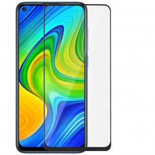 Premium Glas-Schutzfolie für Xiaomi Redmi Note 9 - Rand Schwarz