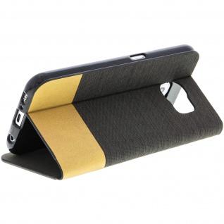 Samsung Galaxy S6 Flip-Cover Brieftaschenstil Kartenfach - Denim Braun - Vorschau 5