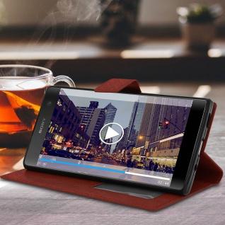 Flip Stand Cover Brieftasche & Standfunktion Sony Xperia XA2 Plus - Braun - Vorschau 3