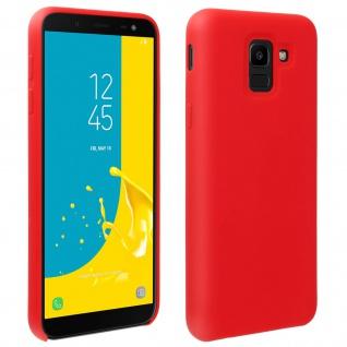 Halbsteife Silikon Handyhülle Galaxy J6, Soft Touch - Rot