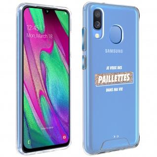 """Handyhülle für Samsung Galaxy A40, Made in France ? """" Paillettes"""" Design"""