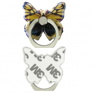 Schmetterling Ring Halterung für Smartphones, 360° drehbare Halterung - Gelb