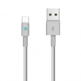 Devia USB-C / USB Ladekabel, Aufladen & Sync., Kabellänge 2m - Weiß