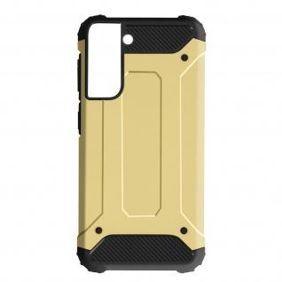 Defender II schockresistente Schutzhülle für Samsung Galaxy S21 Plus â€? Gold