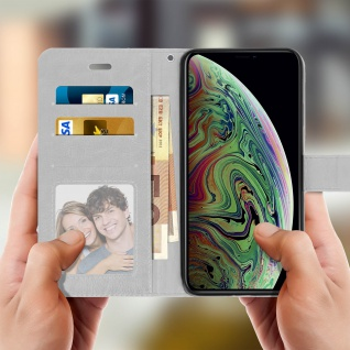 Flip Stand Cover Brieftasche & Standfunktion Apple iPhone XS Max - Weiß - Vorschau 4
