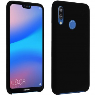 Huawei P20 Lite Soft Touch kratzfeste Silikonhülle, soft case - Schwarz