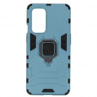 Stoßfeste Handyhülle OnePlus 9 mit Ring-Halterung ? Graublau