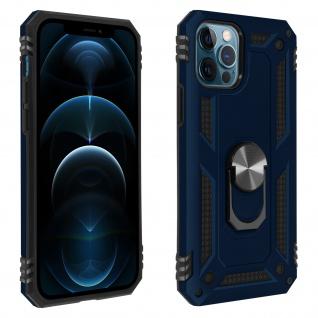 Hybrid Handyhülle mit Ring Halterung für Apple iPhone 12 / 12 Pro ? Dunkelblau