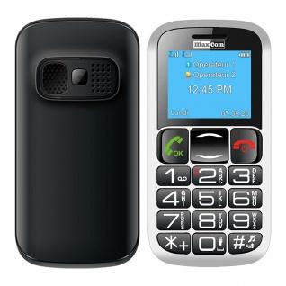 Senior Handy 600mAh SOS-Taste Hörgerät kompatibel, MM462 Maxcom - Schwarz